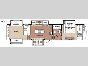 Blue Ridge 3920TZ Floorplan Image