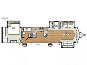 Sandpiper Destination Trailers 393CK Floorplan Image