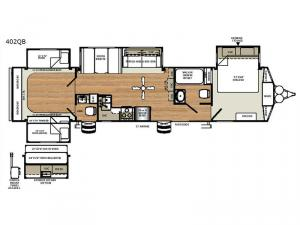 Sandpiper Destination Trailers 402QB Floorplan Image