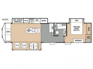 Cedar Creek Cottage 40CRS Floorplan Image