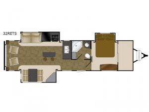 North Trail 32RETS King Floorplan Image