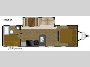 North Trail 26DBSS King Floorplan Image