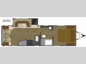 North Trail 25LRSS King Floorplan Image