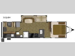 North Trail 31QUBH King Floorplan Image