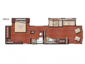 Conquest Lodge Series 34FLS Floorplan Image