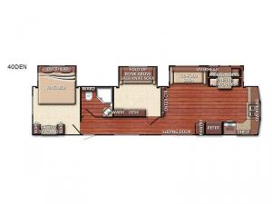 Conquest Lodge Series 40DEN Floorplan Image