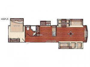 Conquest Lodge Series 406FLR Floorplan Image