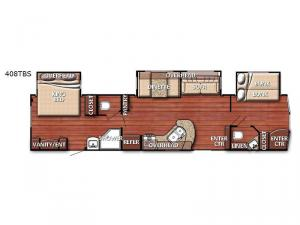 Conquest Lodge Series 408TBS Floorplan Image