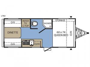 Clipper Ultra-Lite 17RD Floorplan Image