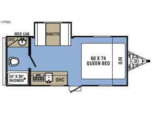 Clipper Ultra-Lite 17FQS Floorplan Image