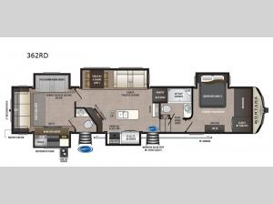 Montana High Country 362RD Floorplan Image
