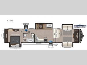 Montana High Country 374FL Floorplan Image