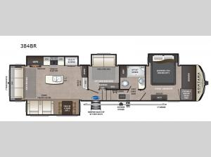 Montana High Country 384BR Floorplan Image