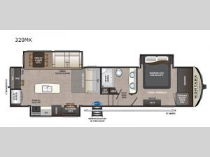 Montana High Country 320MK Floorplan Image