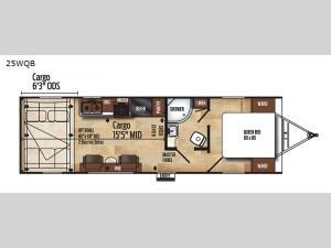 Work and Play 25WQB Floorplan Image