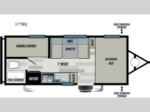 Wildwood Select 177BQ Floorplan Image