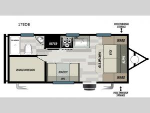 Wildwood Select 178DB Floorplan Image