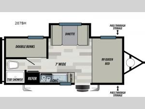 Wildwood Select 207BH Floorplan Image
