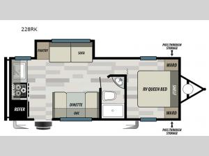 Wildwood Select 228RK Floorplan Image