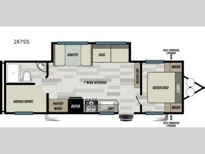 Wildwood Select 267SS Floorplan Image