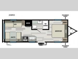 Wildwood Select 208RD Floorplan Image