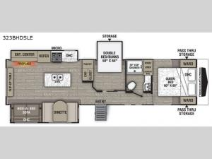Patriot Edition 323BHDSLE Floorplan Image