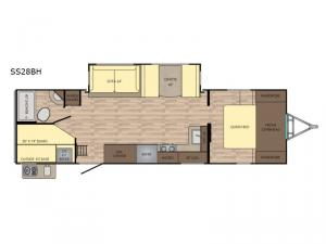 Sunset Trail Grand Reserve SS28BH Floorplan Image