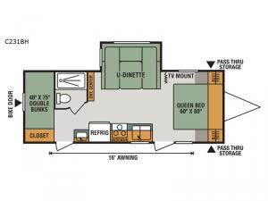 Connect C231BH Floorplan Image