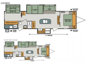 Connect C323BHK Floorplan Image