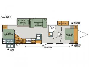 Connect C332BHK Floorplan Image