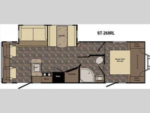 Sunset Trail Super Lite ST260RL Floorplan Image