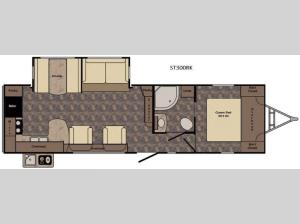 Sunset Trail Super Lite ST300RK Floorplan Image