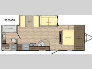 Sunset Trail Super Lite SS254RB Floorplan Image