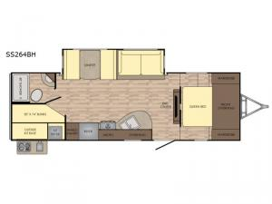 Sunset Trail Super Lite SS264BH Floorplan Image