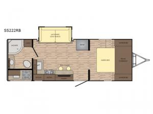 Sunset Trail Super Lite SS222RB Floorplan Image