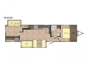 Sunset Trail Super Lite SS322BH Floorplan Image