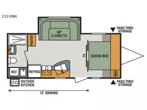 Connect Lite C211RBK Floorplan Image