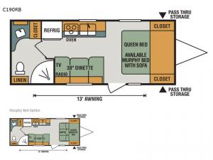 Connect Lite C190RB Floorplan Image