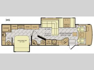 Bounder 34S Floorplan Image