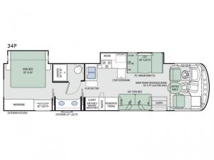 Windsport 34P Floorplan Image