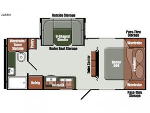 Gulf Breeze Ultra Lite 24 RBH Floorplan Image
