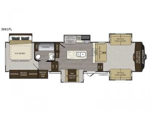 Alpine 3661FL Floorplan Image