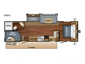 Jay Flight 28BHS Floorplan Image