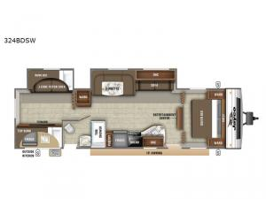 Jay Flight SLX Western Edition 324BDSW Floorplan Image
