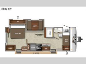 Jay Flight SLX Western Edition 244BHSW Floorplan Image