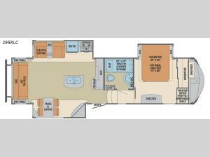 Columbus Compass 295RLC Floorplan Image