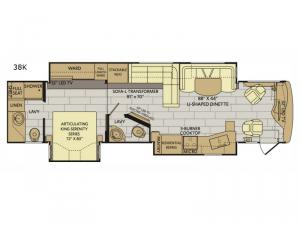 Pace Arrow LXE 38K Floorplan Image