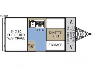 Clipper Camping Trailers C12RBST Floorplan Image
