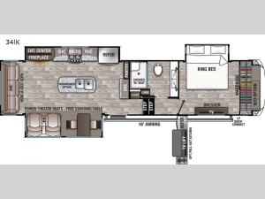 Cedar Creek Hathaway Edition 34IK Floorplan Image