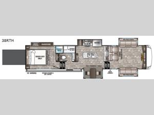 Cedar Creek Hathaway Edition 38RTH Floorplan Image